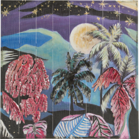peinture 3-d hawaian nights - 73 x 73 cm