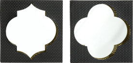 2 miroirs morocco - 40 x 40 cm