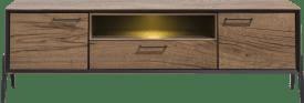 lowboard 180 cm - 2-deuren + 1-lade + 1-niche (+ led)