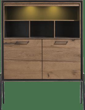 highboard 2-deuren + 4-niches (hoog op poten)(+ led)