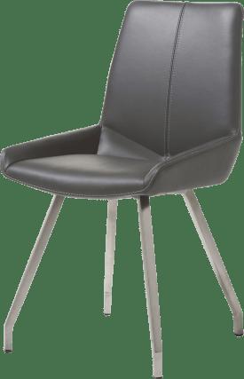 chaise - 4 pieds inox plie - cuir catania
