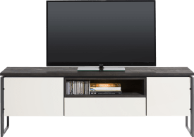 lowboard 180 cm - 2-portes + 1-tiroir + 1-niche (+ led)
