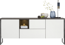 sideboard 190 cm - 2-doors + 2-drawers + 1-niche (+ led)