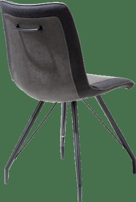 chaise - pied metal noir - poignee avec couleur - combi rocky/lady
