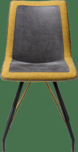 eetkamerstoel - metalen frame zwart + kleur met greep - rocky/lady