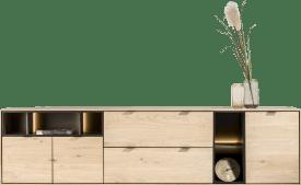 dressoir 240 cm. - 3-deuren + 2-laden + 5-niches + led