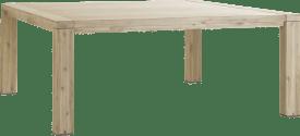 uitschuiftafel 160 (+ 50 cm) x 140 cm