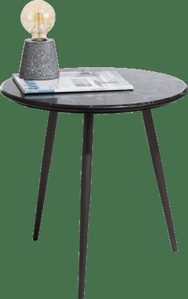 bijzettafel - marmer zwart - rond 45 cm