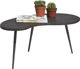 table d'appoint 85 x 80 cm - forme haricot