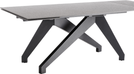 table a rallonge (+ 2 x 40) x 100 cm - lava anthracite