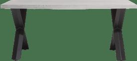 eetkamertafel 190 x 100 cm - beton - x-poot