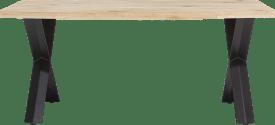 eetkamertafel 190 x 100 cm - hout - x-poot