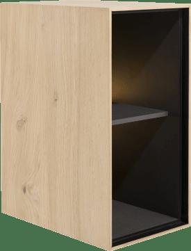 box 60 x 30 cm. - hout - hang + 2-niches + led
