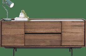 dressoir 190 cm - 2-deuren + 2-laden