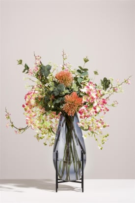 bouquet of flowers delicate blush without vase