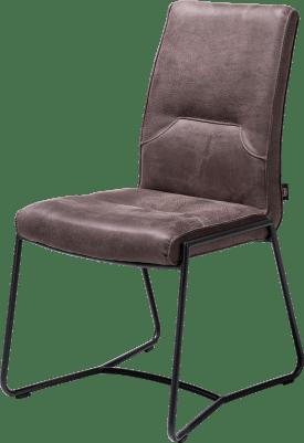 chaise - cadre off black - poignee noir rond + rocky lava
