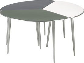 table d'appoint dubai - aluminium