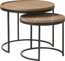 2 tables d'appoint tanami
