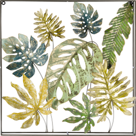decoration mural botanical - 70 x 70 cm - metal