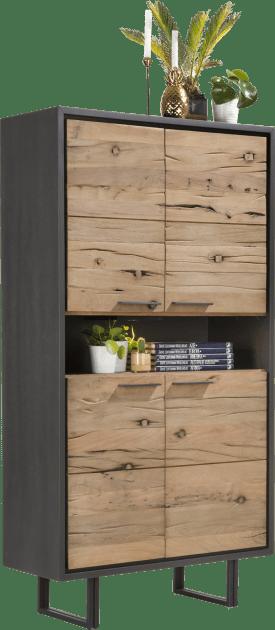 bergkast 100 cm - 4-deuren + 1-niche