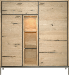 highboard 125 cm - 2-portes + 1-tiroir + 3-niches (+ led)