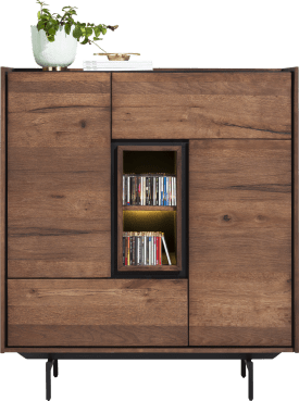 highboard 120 cm - 2-portes + 2-tiroirs + 2-niches