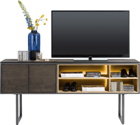 tv cabinet high 180 cm - 2-doors + 4-niches