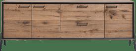 dressoir 210 cm - 3-deuren + 2-laden