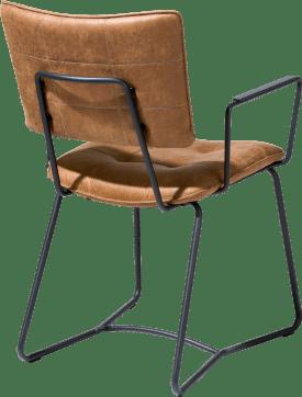 armstoel - zwart frame - corsica