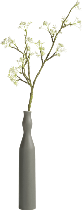 vase curve large - green