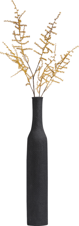 asparagus spray - 100 cm - yellow