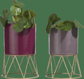 bloempot newark - set van 2 - diameter 24 cm + 22.5 cm