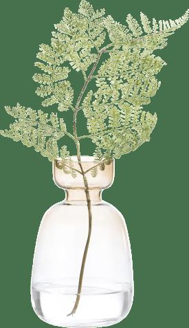 vase emma medium - brun / vert