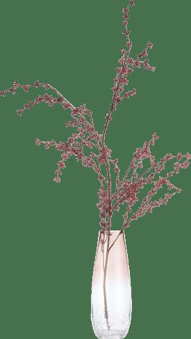 amber vase h32cm