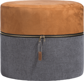 pouf zip-it - orange