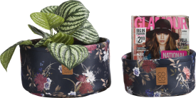 2 baskets - flower print