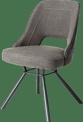 chaise - cadre noir +ressorts ensaches +poignee noir rond-secil/vito