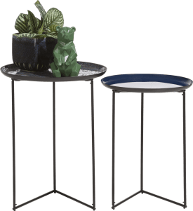 2 tables d'appoint nashville - bleu