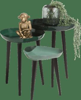 3 bijzettafels austin - groen