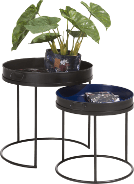 2 tables d'appoint baltimore - multicouleur