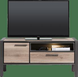 lowboard 130 cm - 1-porte + 1-tiroir + 1-niche