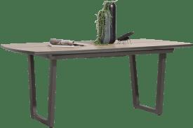 table a rallonge 190 (+ 50 cm.) x 98 cm - pied forme v
