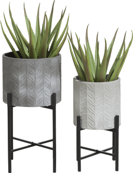 2 bloempotten carina - hoogte 46 cm & 58 cm