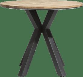 bartafel rond 110 cm - massief eiken + mdf