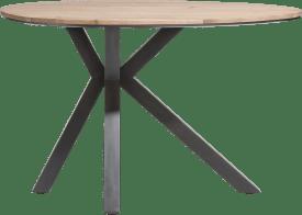 tresentisch oval 150 x 110 cm - massiv kikarholz + mdf