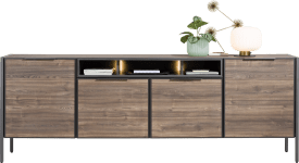 buffet 240 cm - 4-portes + 3-niches (+ led)