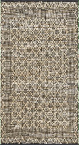 karpet albury - 90 x 150 cm - leder