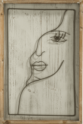 decoration murale face - 40 x 60 cm