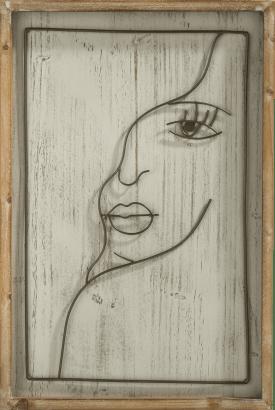 face wanddeko 40x60cm