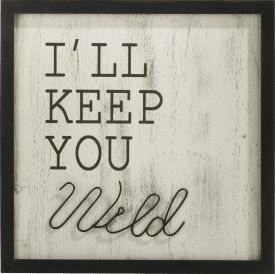 decoration murale keep you wild - 40 x 40 cm